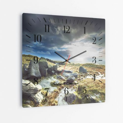 Blackstone Edge Moor, Rochdale - Square Glass Clock